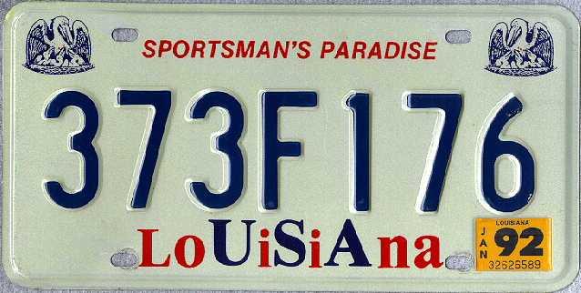 a new custom license plate
